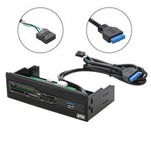 """Stw 5.25 """"Interne Kaartlezer Media Multifunctionele Dashboard Pc Voorpaneel Usb 3.0 Ondersteuning Cf Xd Ms m2 Tf Sd Kaartlezer Smart"""