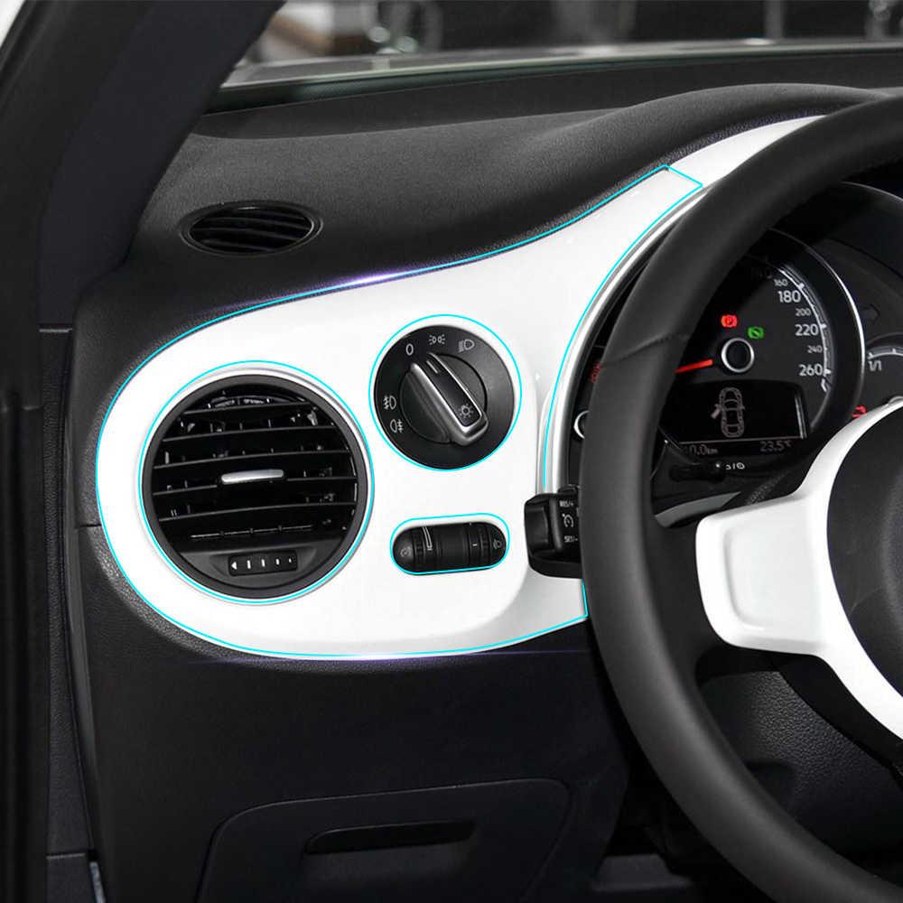 Anti-rayures transparent Transparence Film voiture intérieur Console centrale panneau décoration autocollant de protection pour Volkswagen coccinelle 2017