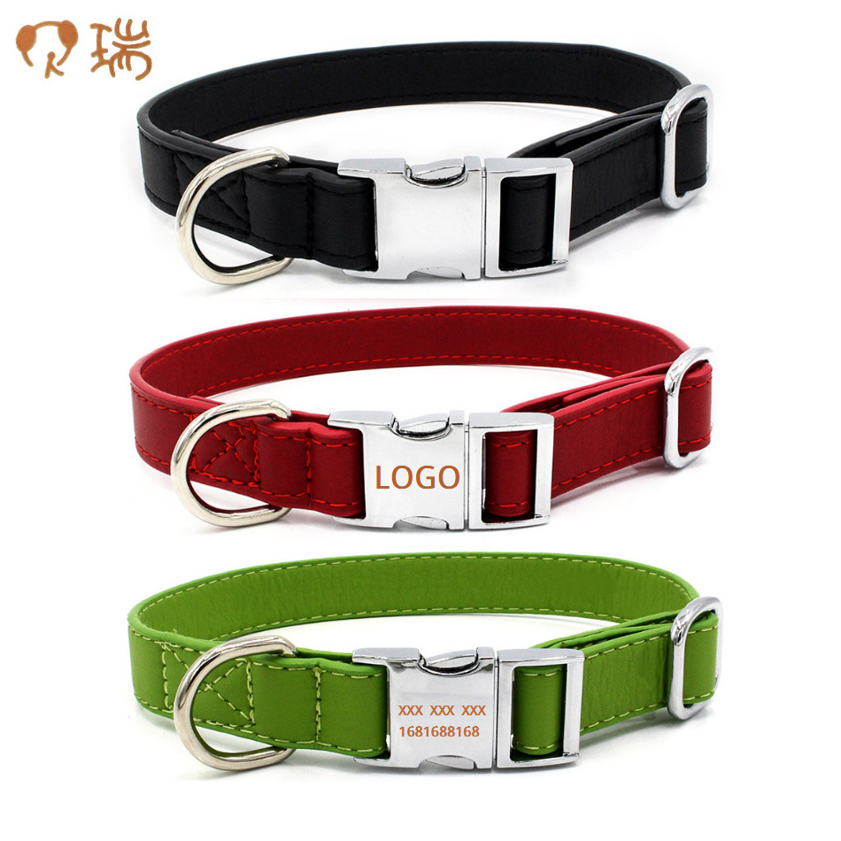New Style Can Carve Writing All-Metal Release Buckle Pet Collar Comfortable Soft Microfiber Dog Neck Ring Pet Supplies New Produ