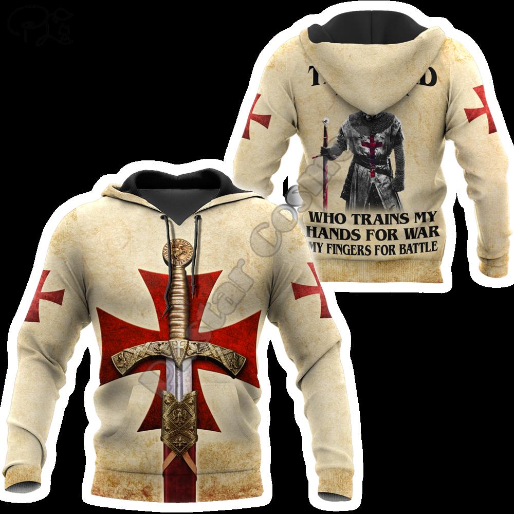 PLstar Cosmos 3dPrint Cross Knights Templar Jesus Armor Unisex Men/Women Harajuku Streetwear Funny Hoodies/Sweatshirt/Jacket-a7