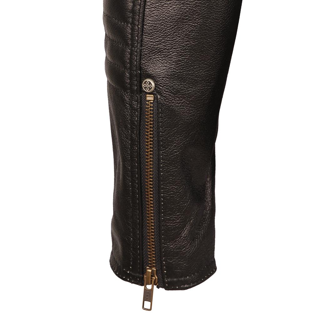 H66124efde469476c825f97ec34ed7628f Black Embroidery Skull Motorcycle Leather Jackets 100% Natural Cowhide Moto Jacket Biker Leather Coat Winter Warm Clothing M219