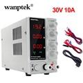 Wanptek Neueste Schalt Labor DC Netzteil 120V 30V 10A Professionelle Bank Mini Einstellbar Digitale Stromquelle regulierbar 30 v|Schaltnetzteil|   -
