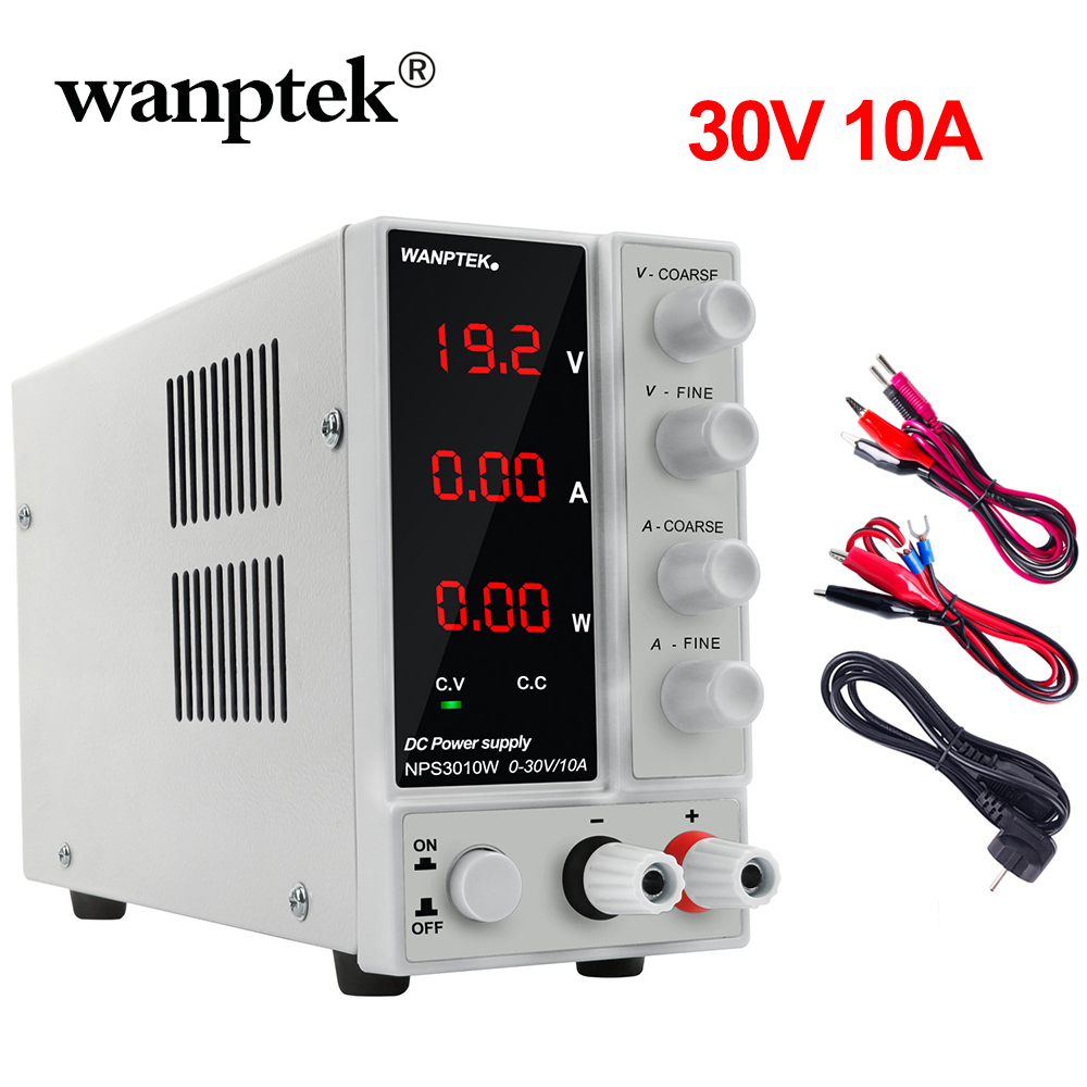 Wanptek Newest Switching LAb <font><b>DC</b></font> Power <font><b>Supply</b></font> 120V 30V 10A Professional Bench Mini Adjustable Digital Power Source regulable <font><b>30</b></font> <font><b>v</b></font> image