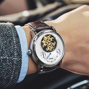 Image 3 - Switzerland Luxury Brand Nesun Hollow Tourbillon Watch Men Automatic Mechanical Mens Watches Sapphire Waterproof clock N9081 4