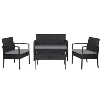 4 PCS Outdoor Patio Rattan Wicker Furniture Set 2