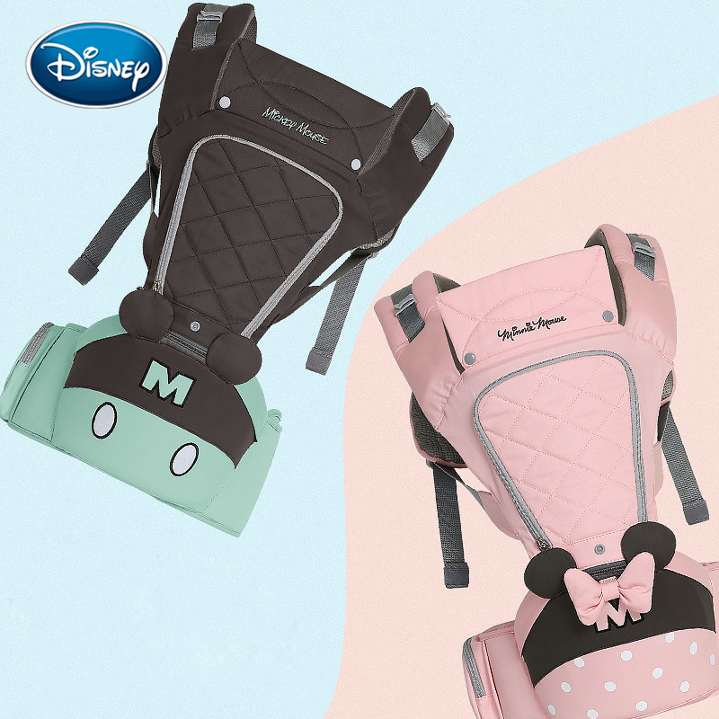 Disney porte-bébé sac à dos taille tabouret quatre saisons multi-fonctionnel enfants assis tabouret tenir les enfants 0-36month
