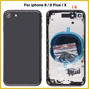 Image 3 - Cho iPhone 8 8G 8 Plus 8 P Lưng Pin Cửa Sau + Trung Khung + Khay Sim mặt Khóa Phần Dành Cho iPhone X Vỏ Ốp Lưng