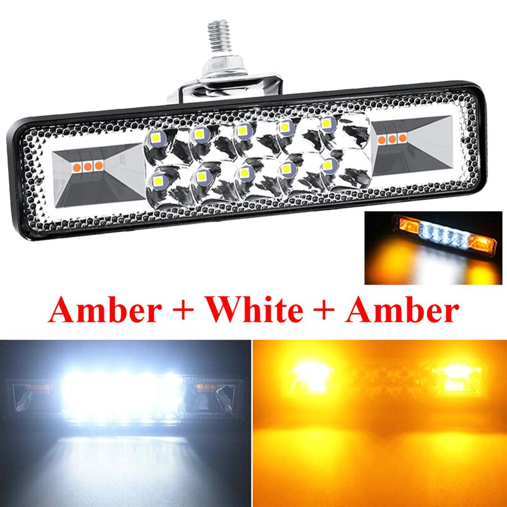1PC 12V 24V 48W  Led Light Bar Offroad Spot Work Led Lights Strobe Flash Working Led Light Bar For Jeep Offroad Truck ATV SUV