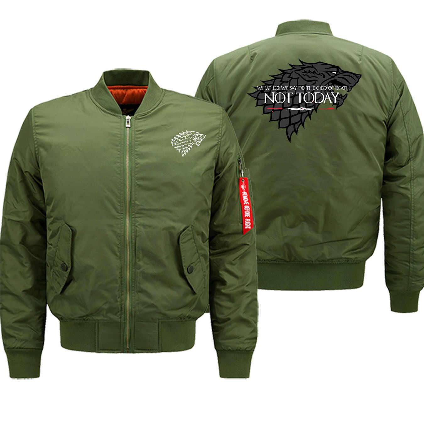 Ayra Stark no hoy en día hombre Casual de alta calidad caliente Zip chaqueta 2019 invierno bombardero ejército militar para hombre abrigo rojo Vintage prendas de vestir 8XL