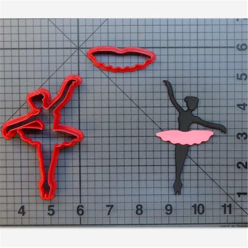 Ballerina Ballerina Cookie Cutter Kitchen Baking Supplies Cake Icing Decoration Tools Set 3D Printed Custom Seal