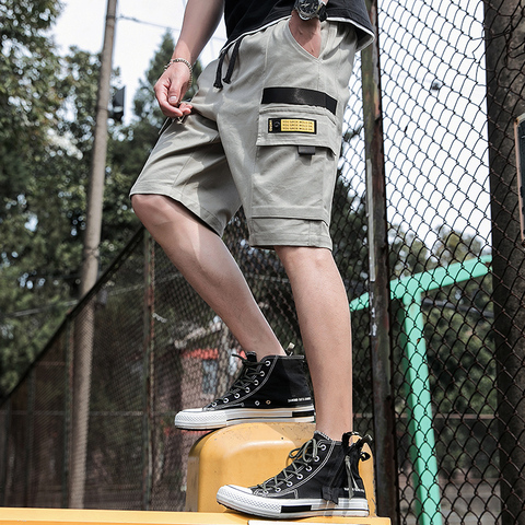 Harajuku Casual Mens Shorts Summer 2019 Fasion Cargo Mens Shorts Cotton Work Shorts Mens Sport Fitness High Quality Male Shorts Lahore