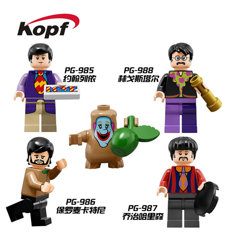 Building Blocks The Beatles John Lennon George Harrison Collectible Figures Super Heroes Education Toys For Children Gift PG8030