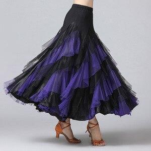 Image 5 - New Women Waltz Salsa Rumba Skirts Ballroom Dance Costume Skirts Women Ballroom Dancing Skirts Spain Dancing Performance