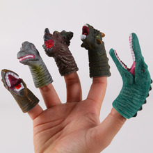 Finger-Toys Hand-Puppet-Set Dinosaur-Head Soft for Kids Mini Educational Cartoon Birthday-Gift