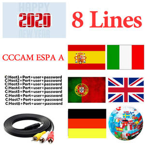 Tv-Receiver Server Italia Poland CCCAM Portugal Satellite Dvb S2 Satxtrem Spain 8-Lines