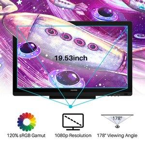 Image 5 - HUION Kamvas 20 19.5 אינץ סוללה משלוח לוח גרפי צג IPS עם AG זכוכית 120% sRGB עט Tablet צג