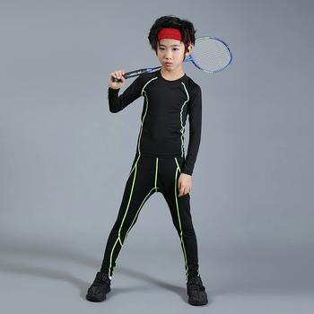 Bielizna termoaktywna zimowa zestaw dziecięcy gimnastyka piórko koszykówka chłopiec odzież sportowa strój treningowy tanie i dobre opinie BAOGEYANG CN (pochodzenie) Chłopcy Pasuje prawda na wymiar weź swój normalny rozmiar Stałe Oddychające 300+301+505