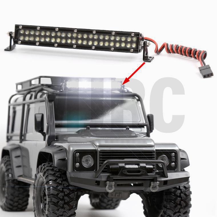 4 LED Light Bar Roof Lamp Bright Light fr 1//10 RC Crawler TRX-4 TRX6 Axial SCX10