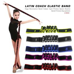 Professional Nylon Yoga Resistance Bands Wear-resistant Fitness Stretch Training Belt Indoor Gym Pilates Elastic Band