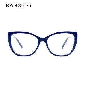 Image 1 - Women Eyeglasses Frame Glasses Transparent Lens Retro Ladies Cat Eye Glasses Vintage Myopia Glasses Frame Eyewear#OR011