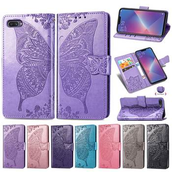 Flip Case for OPPO A5 Case 3D Butterfly Luxury Wallet Cover PU Leather Phone Case For OPPO A5 CPH1809 CPH 1809 Case 6.2 image