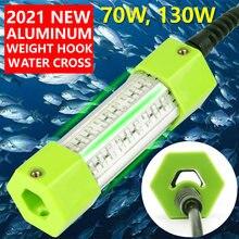 70w 130 dc 12v verde branco azul amarelo ip68 alumínio de alta potência led peixe atraindo isca submersível luz de pesca subaquática