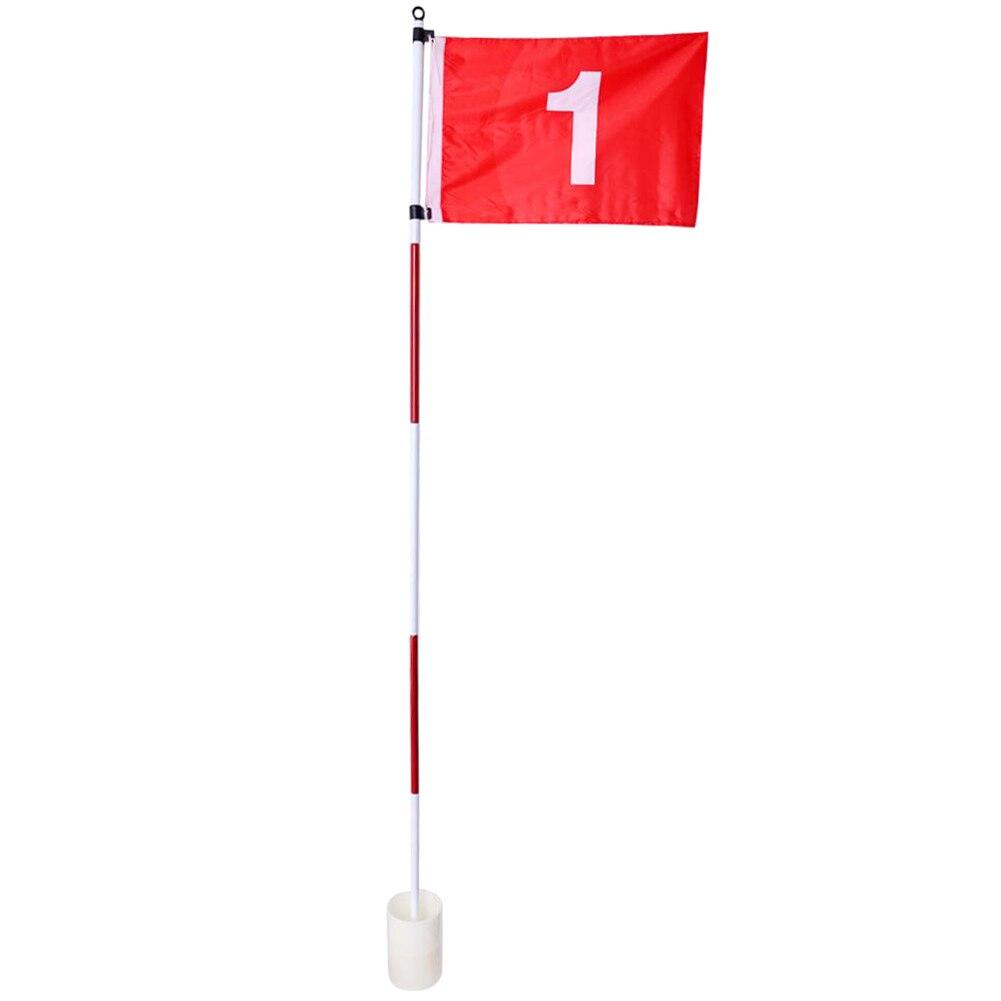 Buraco de golfe pólo bandeira vara 5 seção golfe putting green flagstick bandeira de golfe buraco de golfe equipamento de treinamento de golfe
