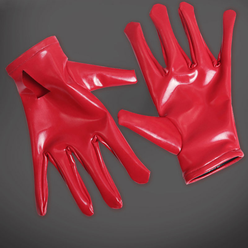 Sexy PVC Shiny Glove Latex Faux Leather Glove Punk Gloves Sexy Hip-pop Jazz Outfit Mittens Cosplay Costumes Accessory Hollow Out