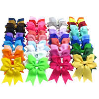 20PCS/LOT Lovely snowflake Elastic Hair Bands Girls Ribbon Clip Bows Girl Hair Tie Hairpin Handmade Fashion Hair Accessories