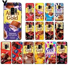 Yinuoda Funny Chocolate Russian Custom Photo Soft Phone Case For Samsung GALAXY S9 plus S3 S6 7 8 9 S10 E S9 Cover(China)