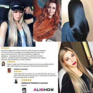 Image 5 - Alishow 18 inch Tape In Remy Human Hair Extensions Double Drawn Hair Straight Invisible Skin Weft PU Hair