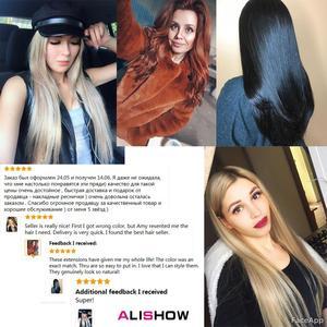 Image 5 - Alishow 18 pouces bande dans Remy Extensions de cheveux humains Double cheveux dessinés droite Invisible peau trame cheveux en polyuréthane