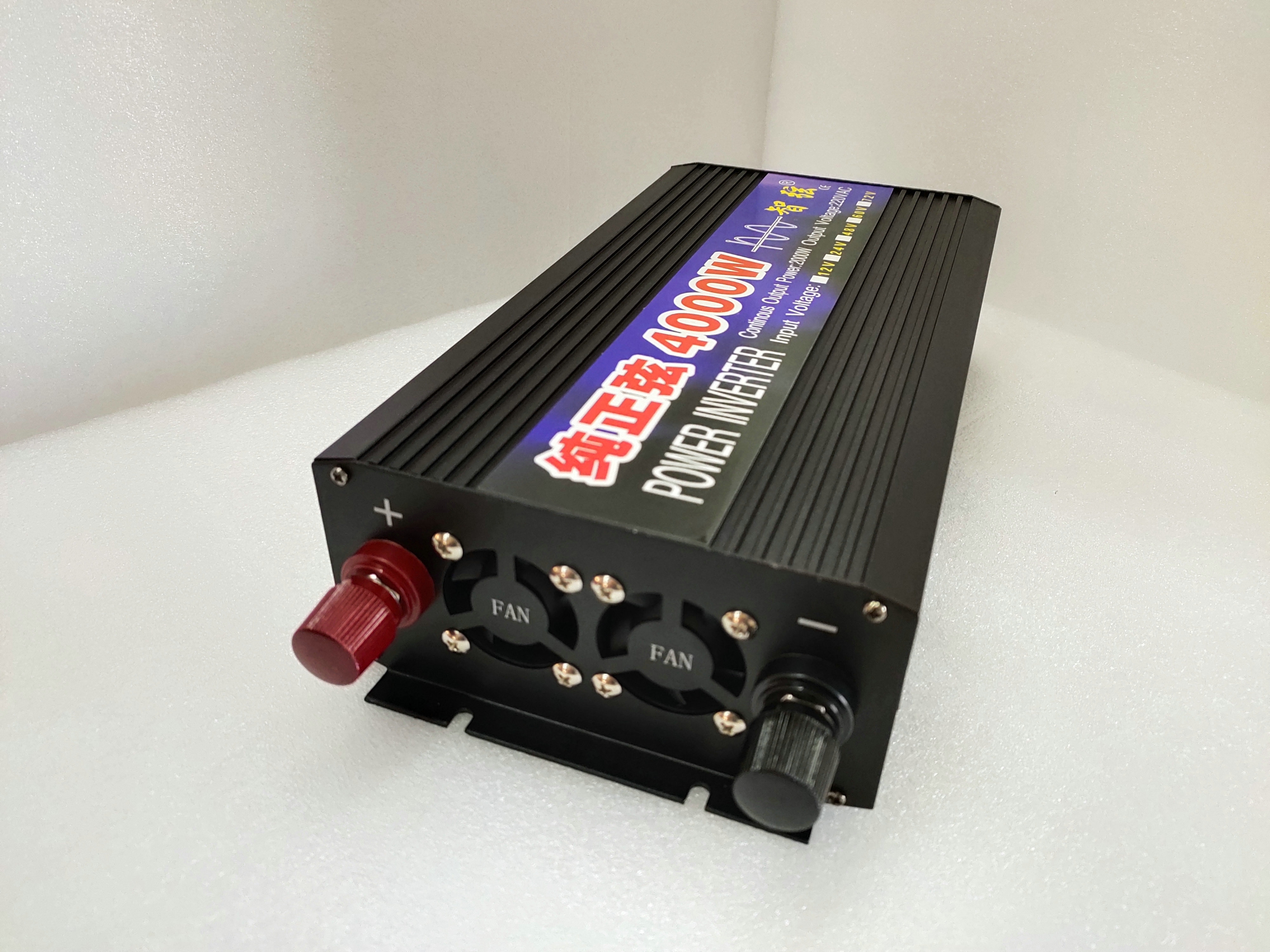 Inverter Pure Sine Wave 2000W 3000W 4000W European Standard Inverter 24V/12V to 220V Home Use wzw
