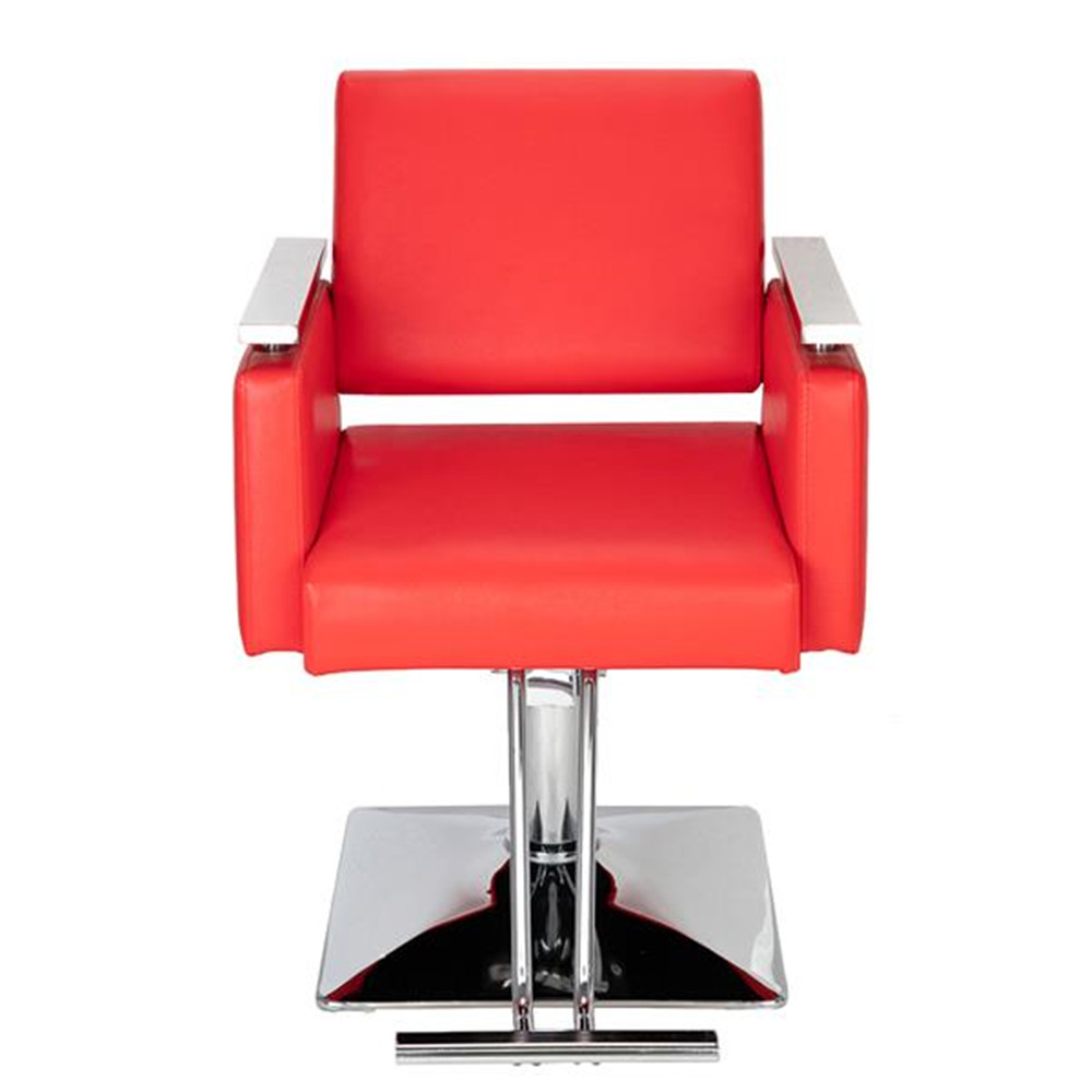 High Quality HC197R Square Base Boutique Hair Salon Special Hairdressing Chair Beauty Chair Red