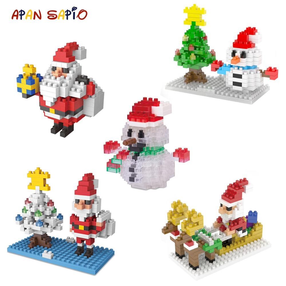 Mini Building Blocks Toys Christmas Cartoon Character Model Educational Figure Bricks Compatible With Legoe Toys For Children