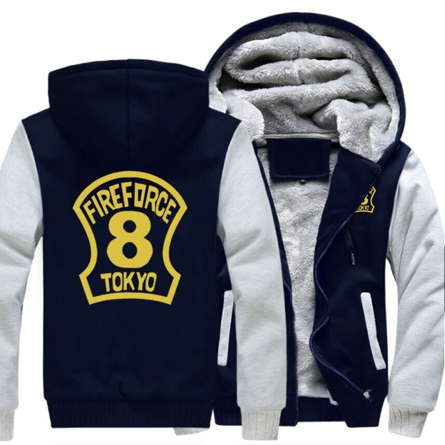 FIRE FORCE ZIP-UP COAT HOODIE JACKET (4 VARIAN)