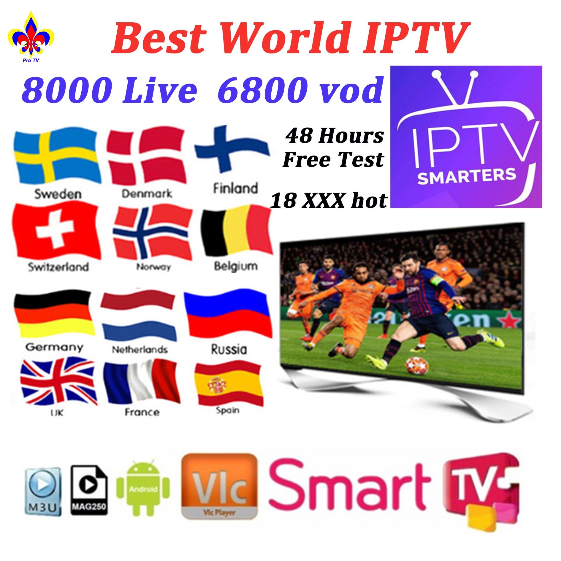 Hot IPTV Subscription Code France Belgium Spain Portugal Greek German Android M3u Enigma2 Smart Tv Vlc Sweden Norway Greek IPTV