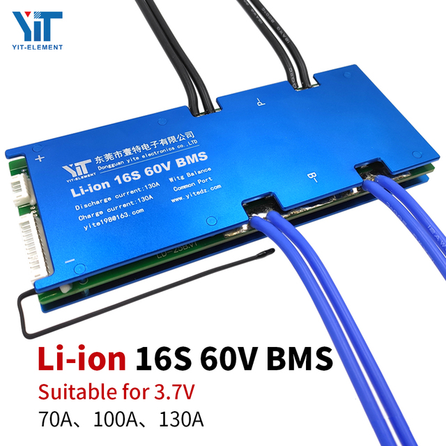 16S BMS 60Vแบตเตอรี่ลิเธียม 3.7Vป้องกันอุณหภูมิEqualizationฟังก์ชั่นป้องกันกระแสเกินPCB