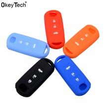 Чехол для автомобильных ключей OkeyTech, мягкий силиконовый резиновый чехол для Mazda 2, 3, 5, 6, 8, Atenza, CX5, чехол для ключей с 3 кнопками для Mazda 2, 3, 5, 8, Atenza, CX5, чехол с 3 кнопками, чехол для смарт ключей
