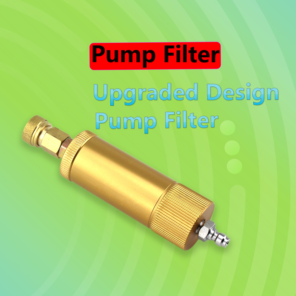 Paintball PCP High Pressure Pump Air Filter 40mpa M10x1 Quick Connectors Water-Oil Separator Filtering Elements 50cm Hose