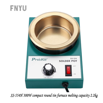цена Pro'skit SS-554H 220V 300W stainless steel welding pot melting tin 2.2kg round tin furnace welding bath temperature 100℃-450℃ онлайн в 2017 году