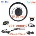 72 в 3000 Вт Электрический Fat Bike DC контроллер бесщеточный мотор контроллер конверсионный комплект 20 26 дюймов Fatbike Мотор колеса снегоход