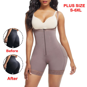 Women Butt lifter Plus Size Tummy Control Pantiess Waist Trainer Booty Lift Pulling Girdle Body Shaper Bodysuits