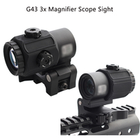 New Tactical G43 3x Magnifier Scope Sight with QD Mount Fit for 20mm rail Rifle Accessory
