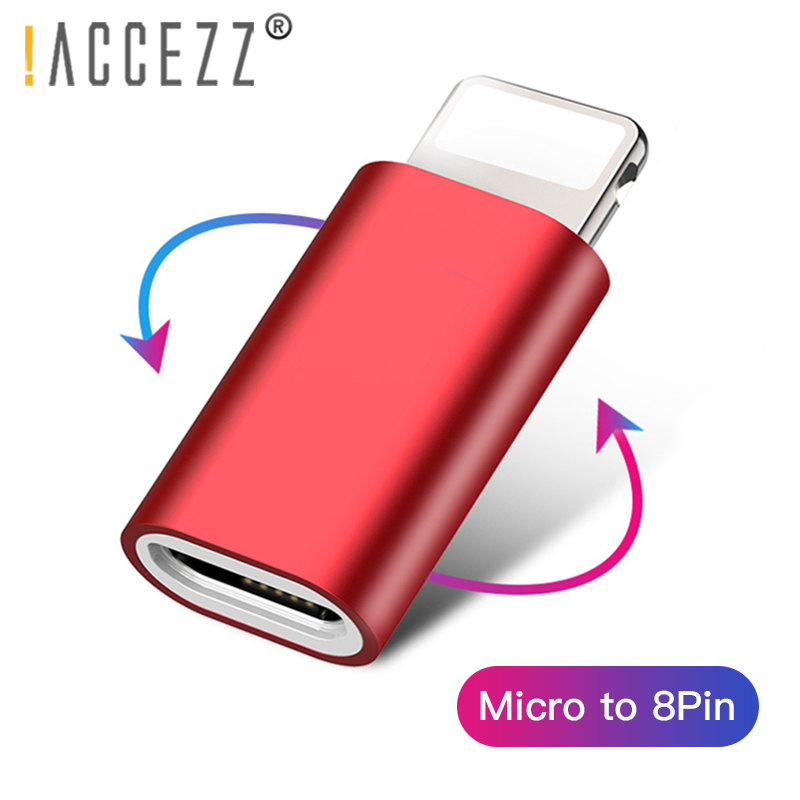 !ACCEZZ USB Adapter Lighting To Micro USB OTG For Apple Adapter For IPhone X XS XR Data Sync Android To IPhone Charger Converter