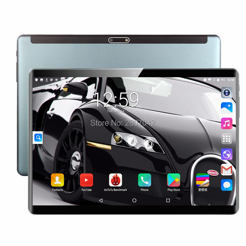 Free Shipping 10 Inch Tablet Pc Android 9.0 Octa Core RAM 6GB+128GB ROM 3G 4G LTE Phablet Dual SIM Card WIFI 1920*1200 IPS Tab