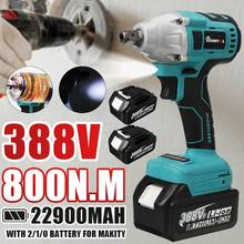 Brushless Electric Impact Wrench 1/2 Sokect 800N.m Cordless Wrench Screwdriver Power Tools Rechargeable for Makita 18V Battery