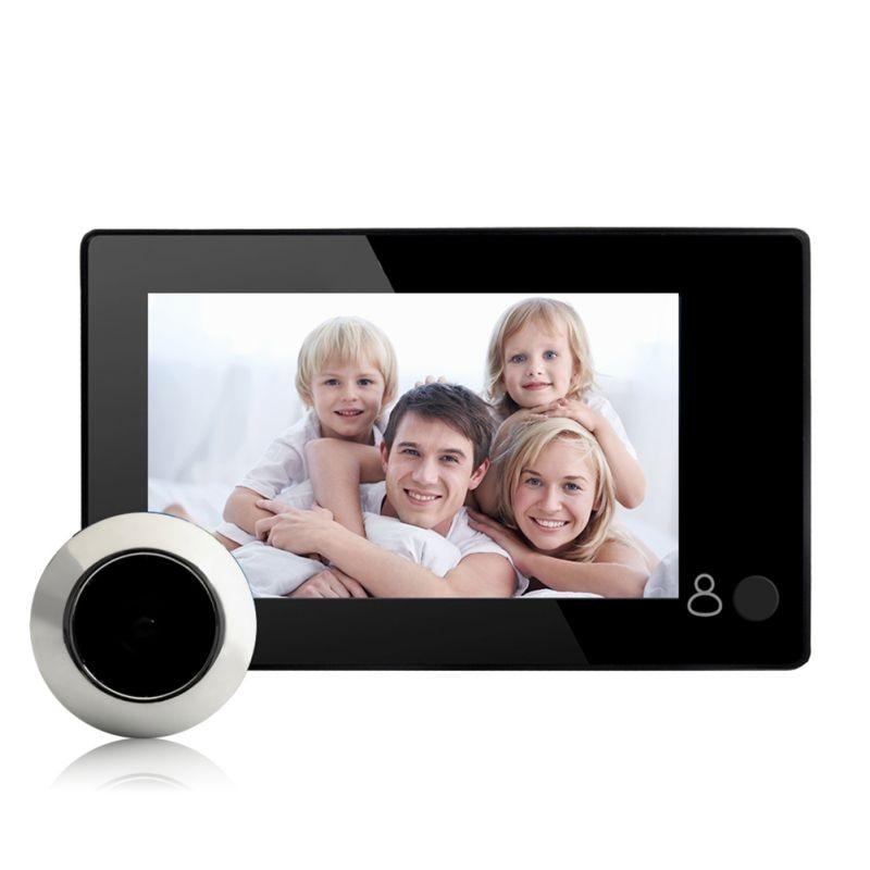 4.3inch Large Screen Digital Door Viewe Monitor 145 Degree Home Security Wireless Peephole Camera