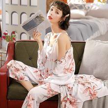Пижама xifer из хлопка и шелка новинка на весну осень модные