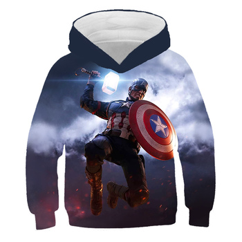 New 3D print Avenger union Hoodie, childrens boys and girls long sleeve sweater, sweater